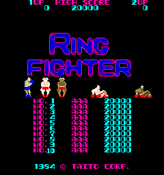 Ring Fighter (ARC)   © Taito 1984    1/3