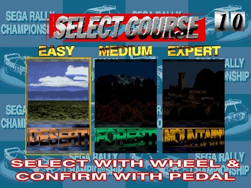 Sega Rally Championship (ARC)  © Sega 1995   4/5