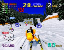 Sega Ski: Super G (ARC)  © Sega 1996   2/3