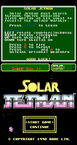 Solar Jetman (ARC)  © Rare 1990   1/3