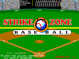 Strike Zone Baseball (ARC)   © Leland 1988    1/3