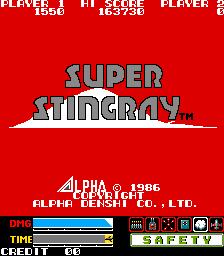 Super Stingray (ARC)  © ADK 1986   1/5