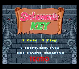 Solomon's Key (ARC)  © Tecmo 1986   1/5
