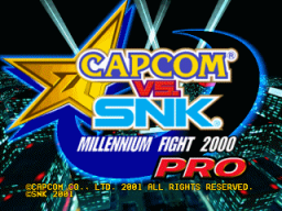 Capcom Vs. SNK: Millennium Fight 2000 PRO (ARC)  © Capcom 2000   1/3