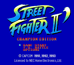 Street Fighter II': Champion Edition (PCE)  © Interchannel 1993   1/4