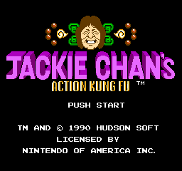Jackie Chan's Action Kung Fu (NES)   © Hudson 1990    1/3