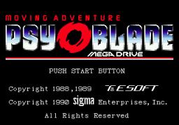 Psy-O-Blade: Moving Adventure (SMD)  © Sigma Enterprises 1990   1/3