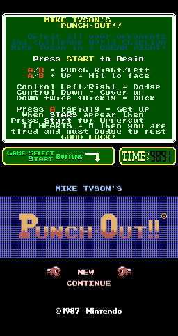 Mike Tyson's Punch-Out!! (ARC)   © Nintendo 1987    1/3