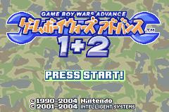 Game Boy Wars Advance 1+2 (GBA)  © Nintendo 2004   1/3