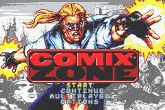 Comix Zone (GBA)  © Sega 2002   1/3