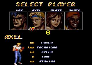 Streets Of Rage II (ARC)  © Sega 1991   4/4
