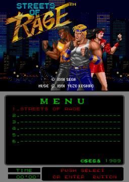 Streets Of Rage [Mega Play] (ARC)  © Sega 1991   1/2