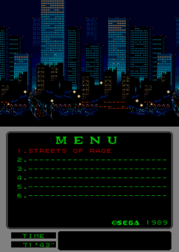 Streets Of Rage [Mega Play] (ARC)  © Sega 1991   2/2