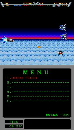 Arrow Flash (ARC)  © Sega 1990   2/3