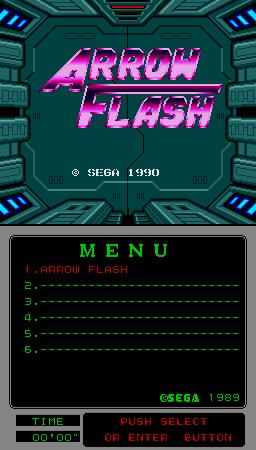 Arrow Flash (ARC)  © Sega 1990   1/3