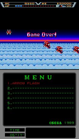 Arrow Flash (ARC)  © Sega 1990   3/3