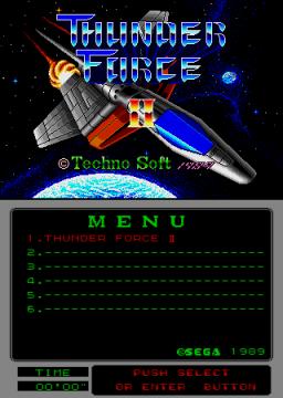 Thunder Force II (ARC)  © Sega 1989   1/2