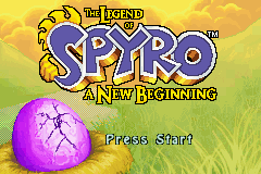 The Legend Of Spyro: A New Beginning (GBA)   © VU Games 2006    1/3