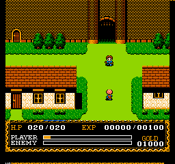 Ys: The Vanished Omens (NES)  © Victor 1988   2/3