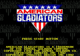 American Gladiators (SMD)  © GameTek 1992   1/2