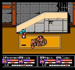 Nekketsu Kakutou Densetsu (NES)  © Technos 1992   2/3