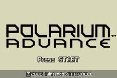 Polarium Advance (GBA)  © Nintendo 2005   1/3