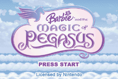 Barbie And The Magic Of Pegasus (GBA)   © VU Games 2005    1/4