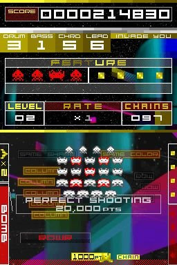 Space Invaders Extreme (NDS)   © Taito 2008    6/7