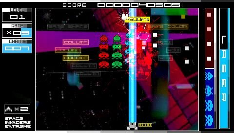 Space Invaders Extreme (PSP)  © Taito 2008   4/9