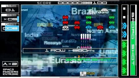 Space Invaders Extreme (PSP)  © Taito 2008   5/9