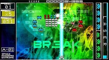 Space Invaders Extreme (PSP)  © Taito 2008   6/9