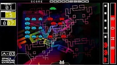 Space Invaders Extreme (PSP)  © Taito 2008   8/9