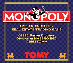 Monopoly (1993 Tomy) (SNES)  © Tomy 1993   1/3