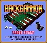 Backgammon (1999) (GBC)  © JVC 1999   1/3