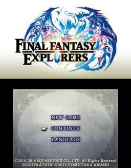 Final Fantasy Explorers (3DS)  © Square Enix 2014   1/3