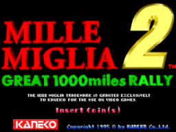 Great 1000 Miles Rally 2: Mille Miglia (ARC)  © Kaneko 1995   1/3
