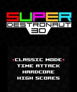 Super Destronaut 3D (3DS)  © Petite Games 2017   1/3